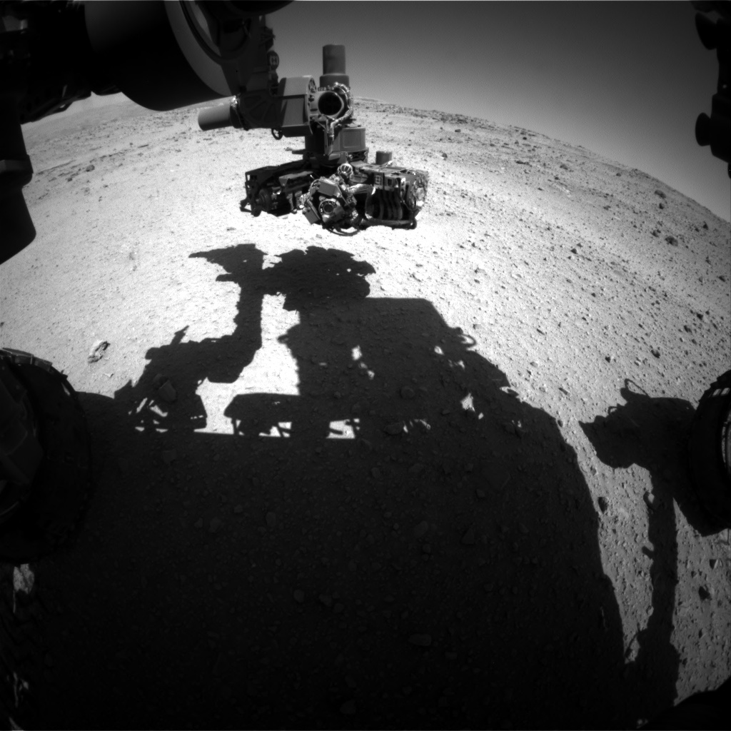 Nasa's Mars rover Curiosity acquired this image using its Front Hazard Avoidance Camera (Front Hazcam) on Sol 555, at drive 298, site number 28