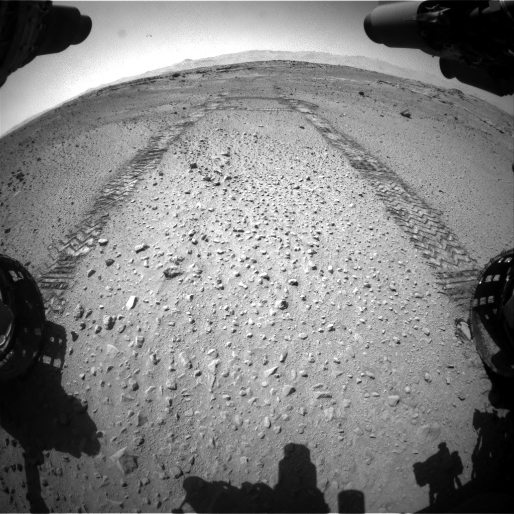 Nasa's Mars rover Curiosity acquired this image using its Front Hazard Avoidance Camera (Front Hazcam) on Sol 555, at drive 352, site number 28