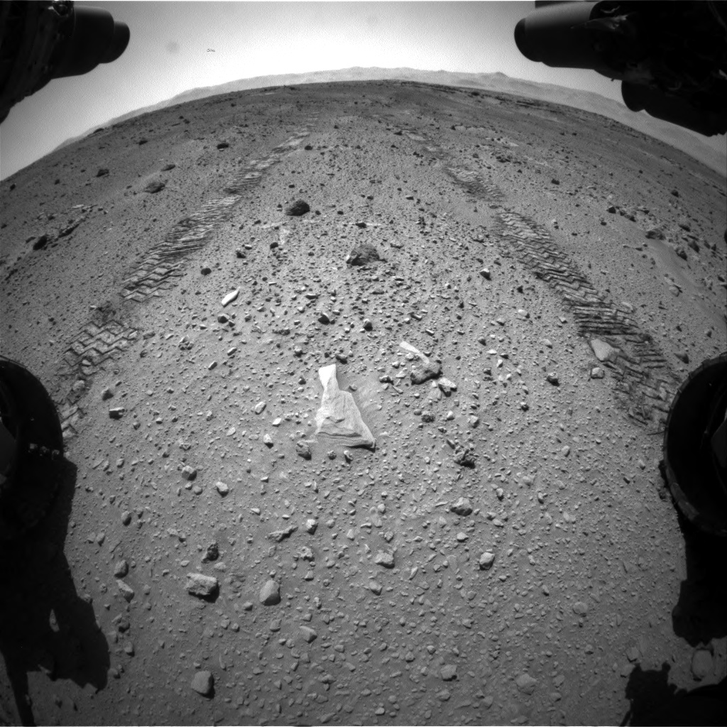 Nasa's Mars rover Curiosity acquired this image using its Front Hazard Avoidance Camera (Front Hazcam) on Sol 555, at drive 520, site number 28