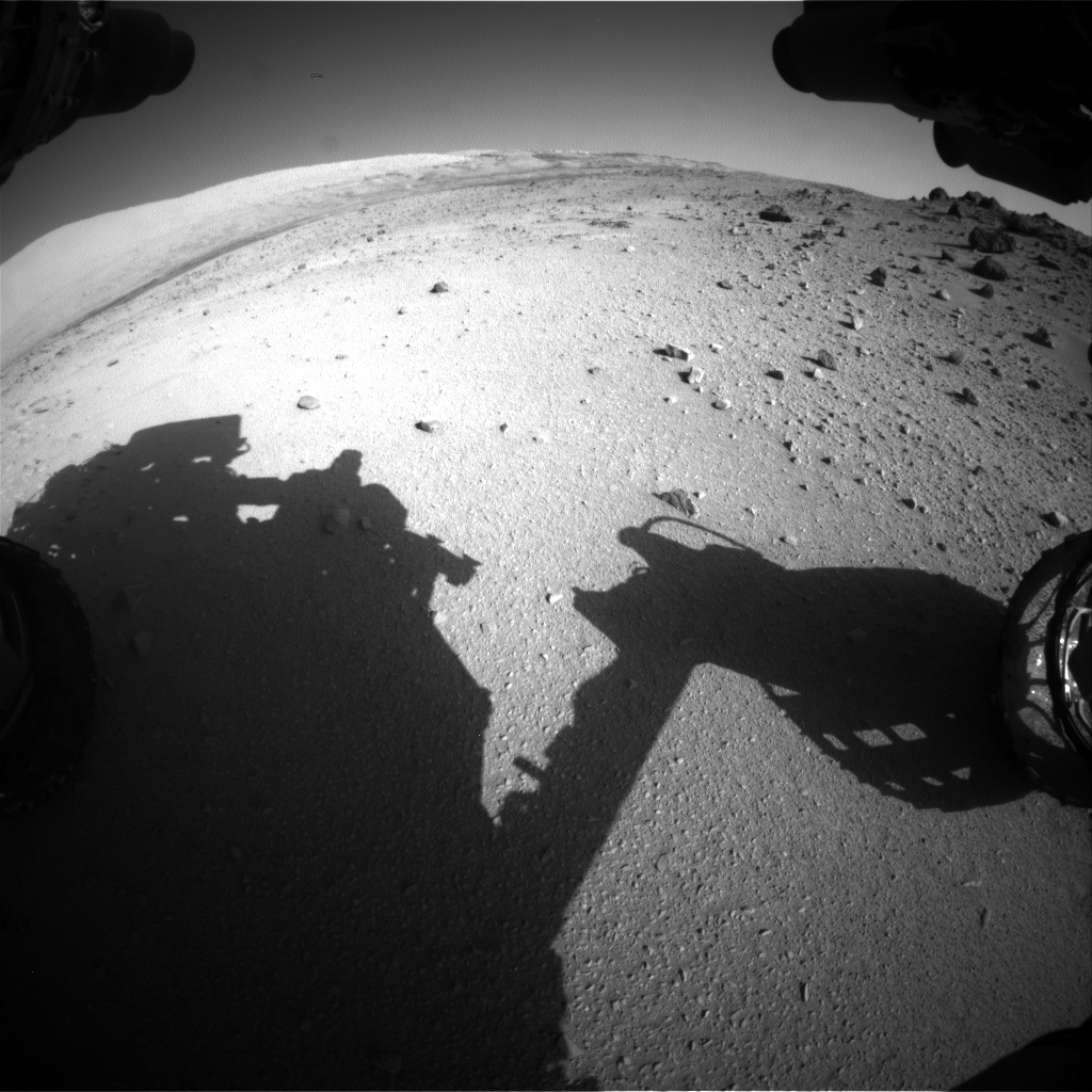 Nasa's Mars rover Curiosity acquired this image using its Front Hazard Avoidance Camera (Front Hazcam) on Sol 555, at drive 634, site number 28