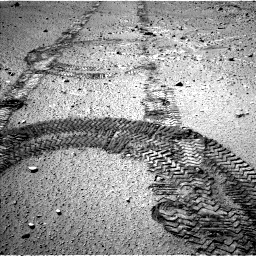 Nasa's Mars rover Curiosity acquired this image using its Left Navigation Camera on Sol 555, at drive 322, site number 28