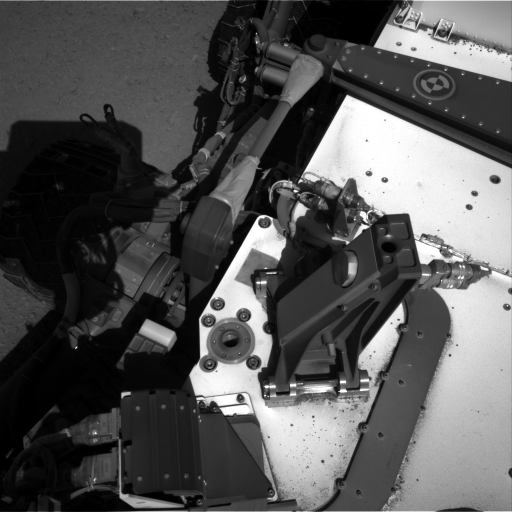 Nasa's Mars rover Curiosity acquired this image using its Right Navigation Camera on Sol 555, at drive 352, site number 28