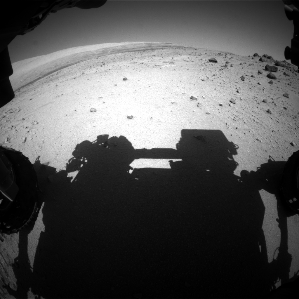 NASA's Mars rover Curiosity acquired this image using its Front Hazard Avoidance Cameras (Front Hazcams) on Sol 558