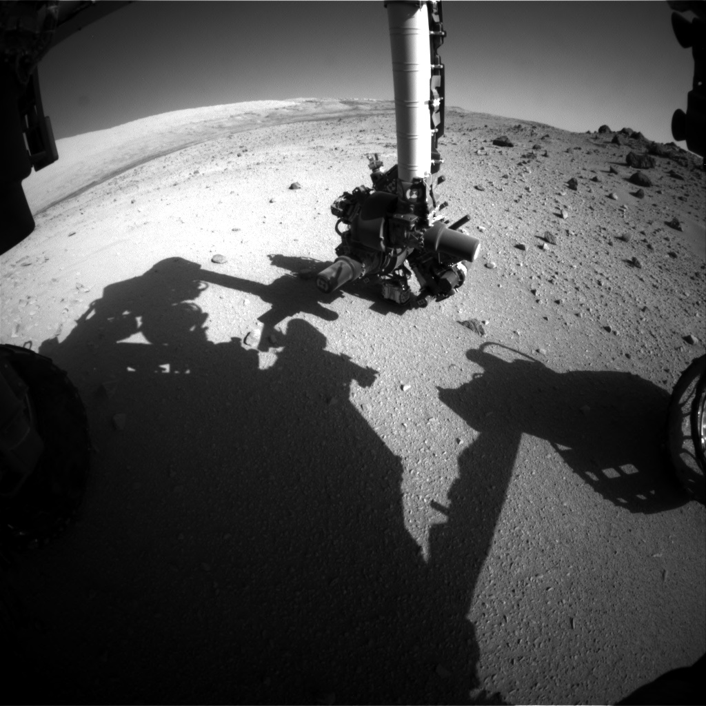 Nasa's Mars rover Curiosity acquired this image using its Front Hazard Avoidance Camera (Front Hazcam) on Sol 558, at drive 634, site number 28