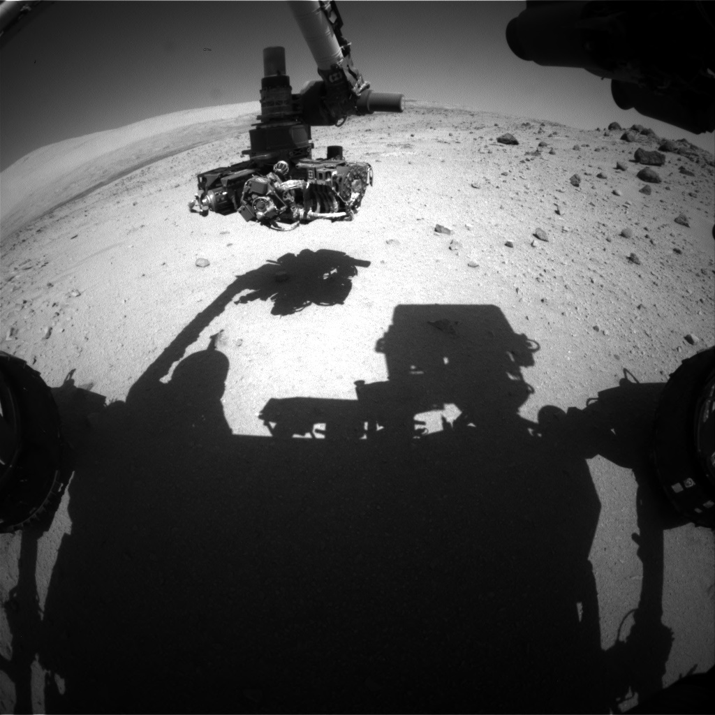 Nasa's Mars rover Curiosity acquired this image using its Front Hazard Avoidance Camera (Front Hazcam) on Sol 559, at drive 634, site number 28