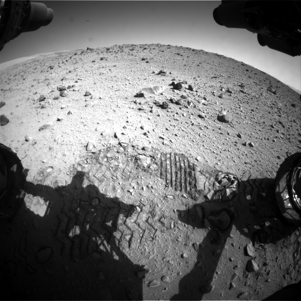 Nasa's Mars rover Curiosity acquired this image using its Front Hazard Avoidance Camera (Front Hazcam) on Sol 559, at drive 914, site number 28