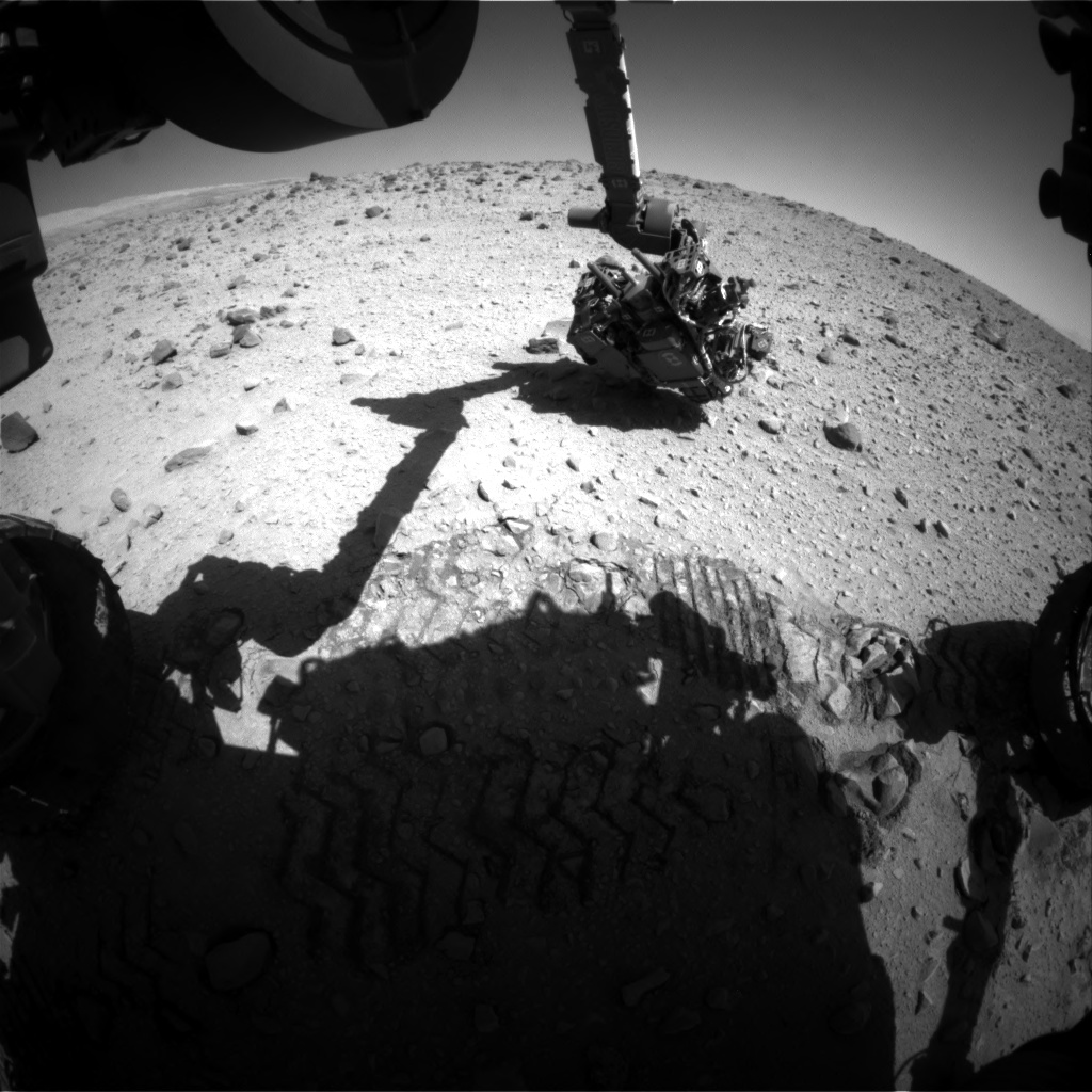 Nasa's Mars rover Curiosity acquired this image using its Front Hazard Avoidance Camera (Front Hazcam) on Sol 560, at drive 914, site number 28