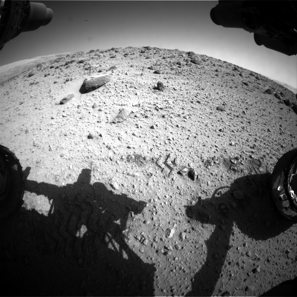Nasa's Mars rover Curiosity acquired this image using its Front Hazard Avoidance Camera (Front Hazcam) on Sol 560, at drive 1122, site number 28