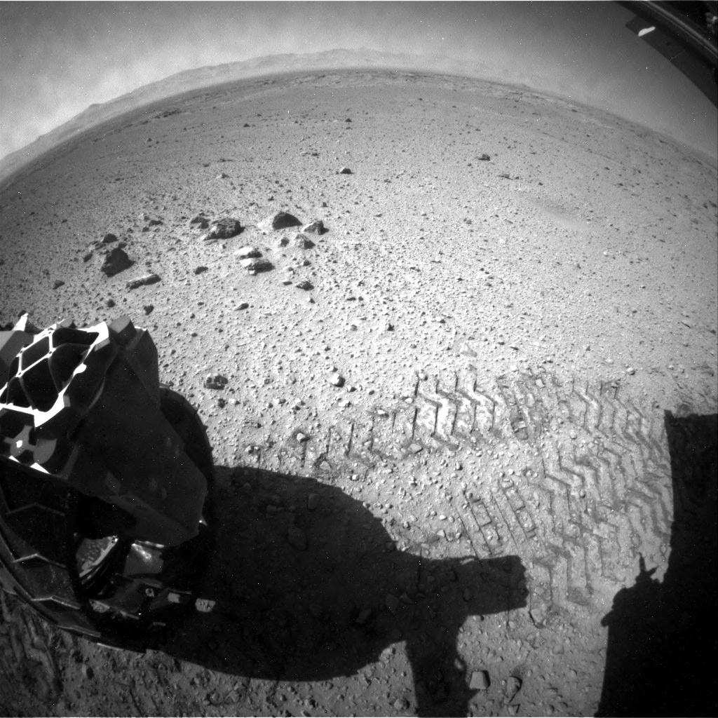 NASA's Mars rover Curiosity acquired this image using its Rear Hazard Avoidance Cameras (Rear Hazcams) on Sol 560