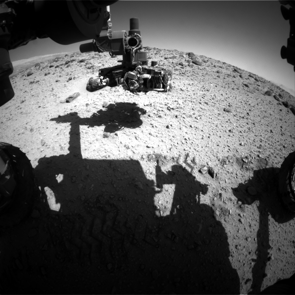 Nasa's Mars rover Curiosity acquired this image using its Front Hazard Avoidance Camera (Front Hazcam) on Sol 561, at drive 1122, site number 28