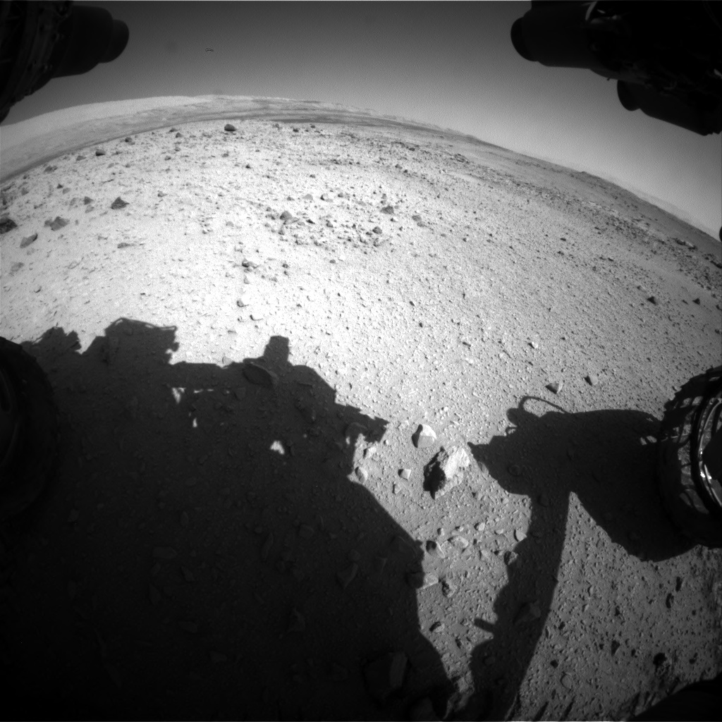 Nasa's Mars rover Curiosity acquired this image using its Front Hazard Avoidance Camera (Front Hazcam) on Sol 561, at drive 1350, site number 28