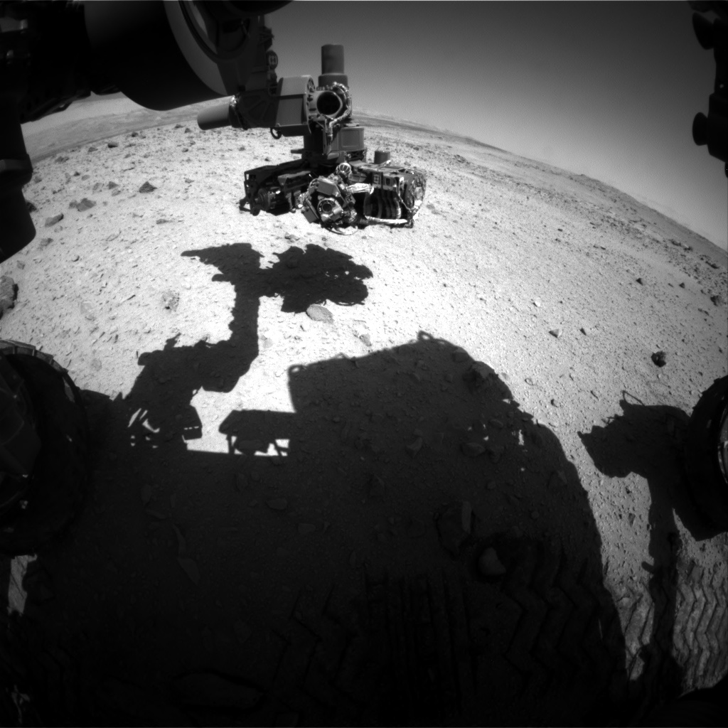 Nasa's Mars rover Curiosity acquired this image using its Front Hazard Avoidance Camera (Front Hazcam) on Sol 562, at drive 1356, site number 28