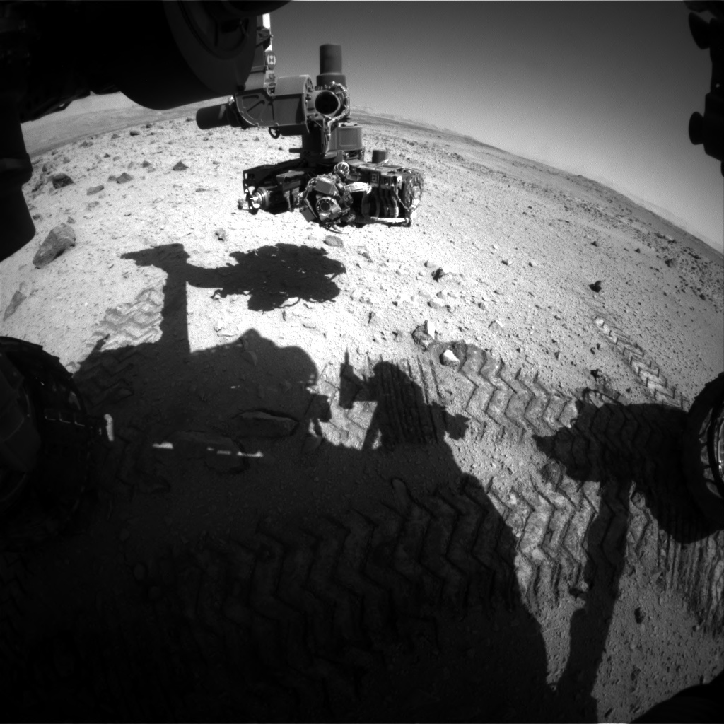 Nasa's Mars rover Curiosity acquired this image using its Front Hazard Avoidance Camera (Front Hazcam) on Sol 562, at drive 1368, site number 28