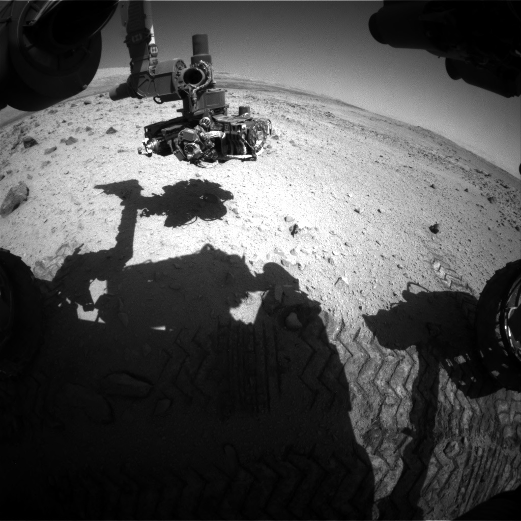 Nasa's Mars rover Curiosity acquired this image using its Front Hazard Avoidance Camera (Front Hazcam) on Sol 562, at drive 1362, site number 28