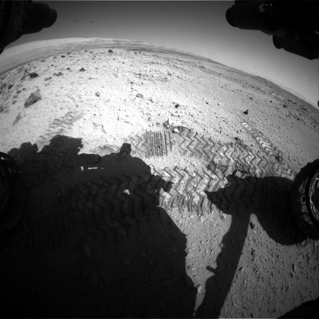 Nasa's Mars rover Curiosity acquired this image using its Front Hazard Avoidance Camera (Front Hazcam) on Sol 562, at drive 1374, site number 28