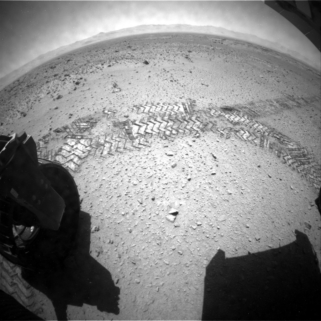 NASA's Mars rover Curiosity acquired this image using its Rear Hazard Avoidance Cameras (Rear Hazcams) on Sol 562