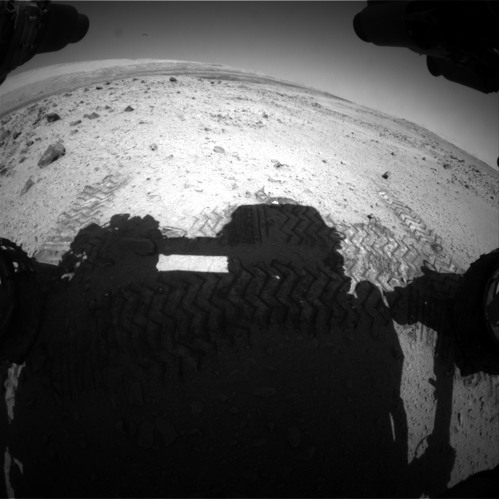 Nasa's Mars rover Curiosity acquired this image using its Front Hazard Avoidance Camera (Front Hazcam) on Sol 563, at drive 1374, site number 28