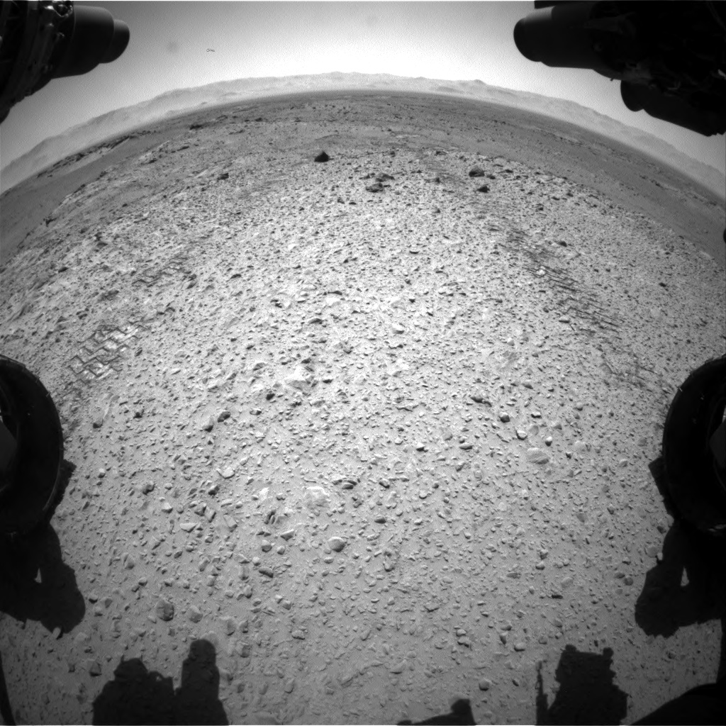 Nasa's Mars rover Curiosity acquired this image using its Front Hazard Avoidance Camera (Front Hazcam) on Sol 563, at drive 1482, site number 28