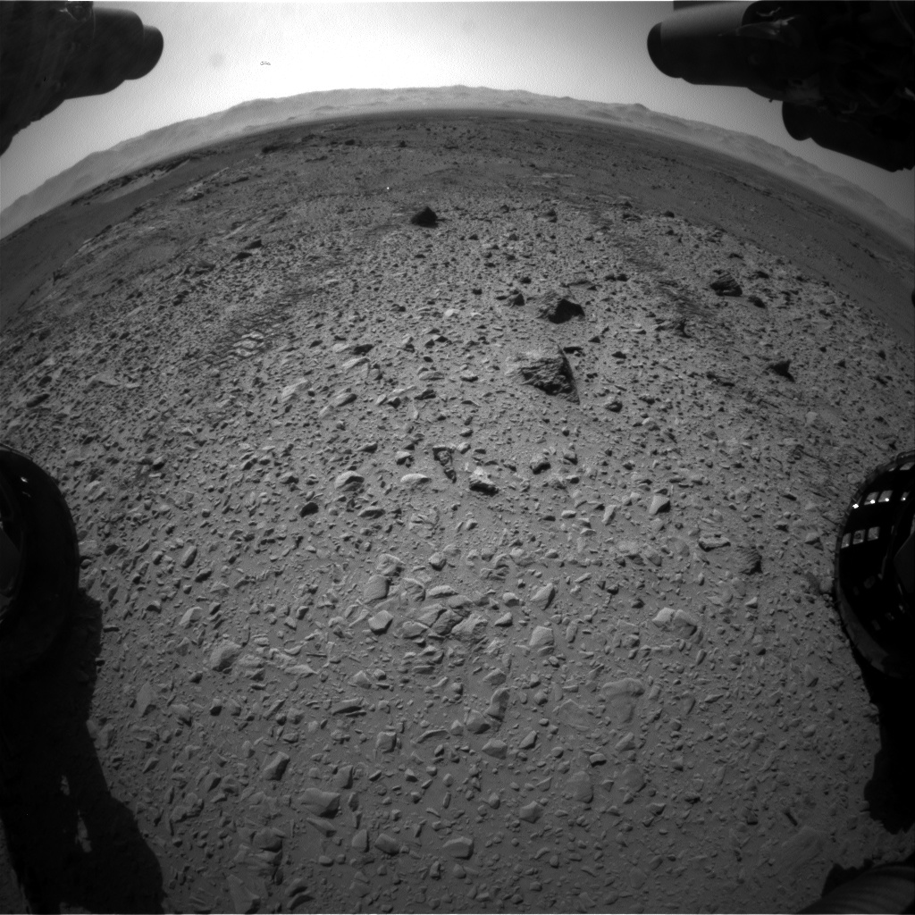 Nasa's Mars rover Curiosity acquired this image using its Front Hazard Avoidance Camera (Front Hazcam) on Sol 563, at drive 0, site number 29