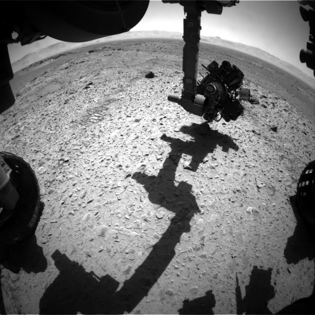 Nasa's Mars rover Curiosity acquired this image using its Front Hazard Avoidance Camera (Front Hazcam) on Sol 564, at drive 0, site number 29