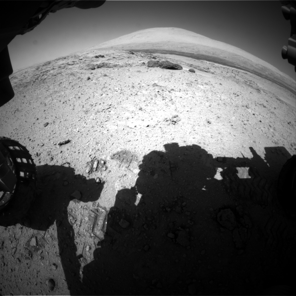 Nasa's Mars rover Curiosity acquired this image using its Front Hazard Avoidance Camera (Front Hazcam) on Sol 565, at drive 536, site number 29
