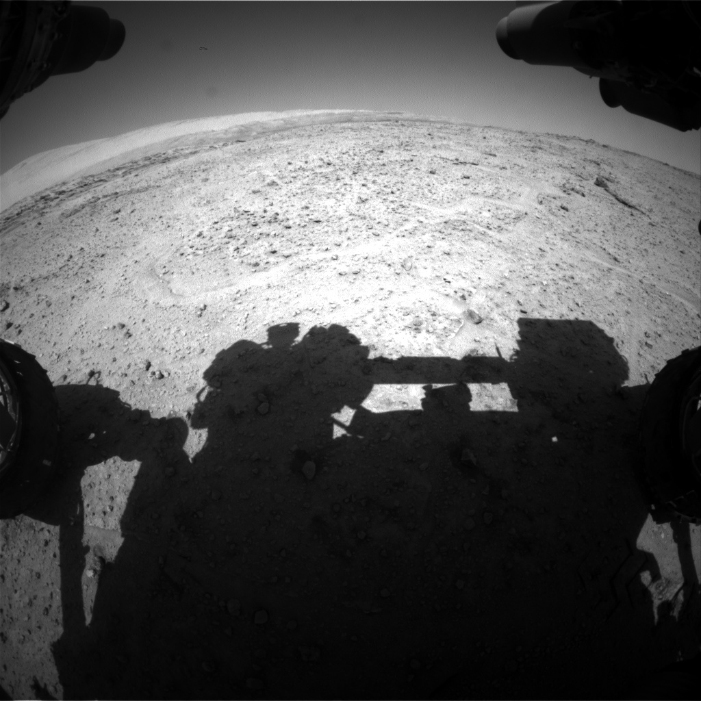 Nasa's Mars rover Curiosity acquired this image using its Front Hazard Avoidance Camera (Front Hazcam) on Sol 565, at drive 298, site number 29
