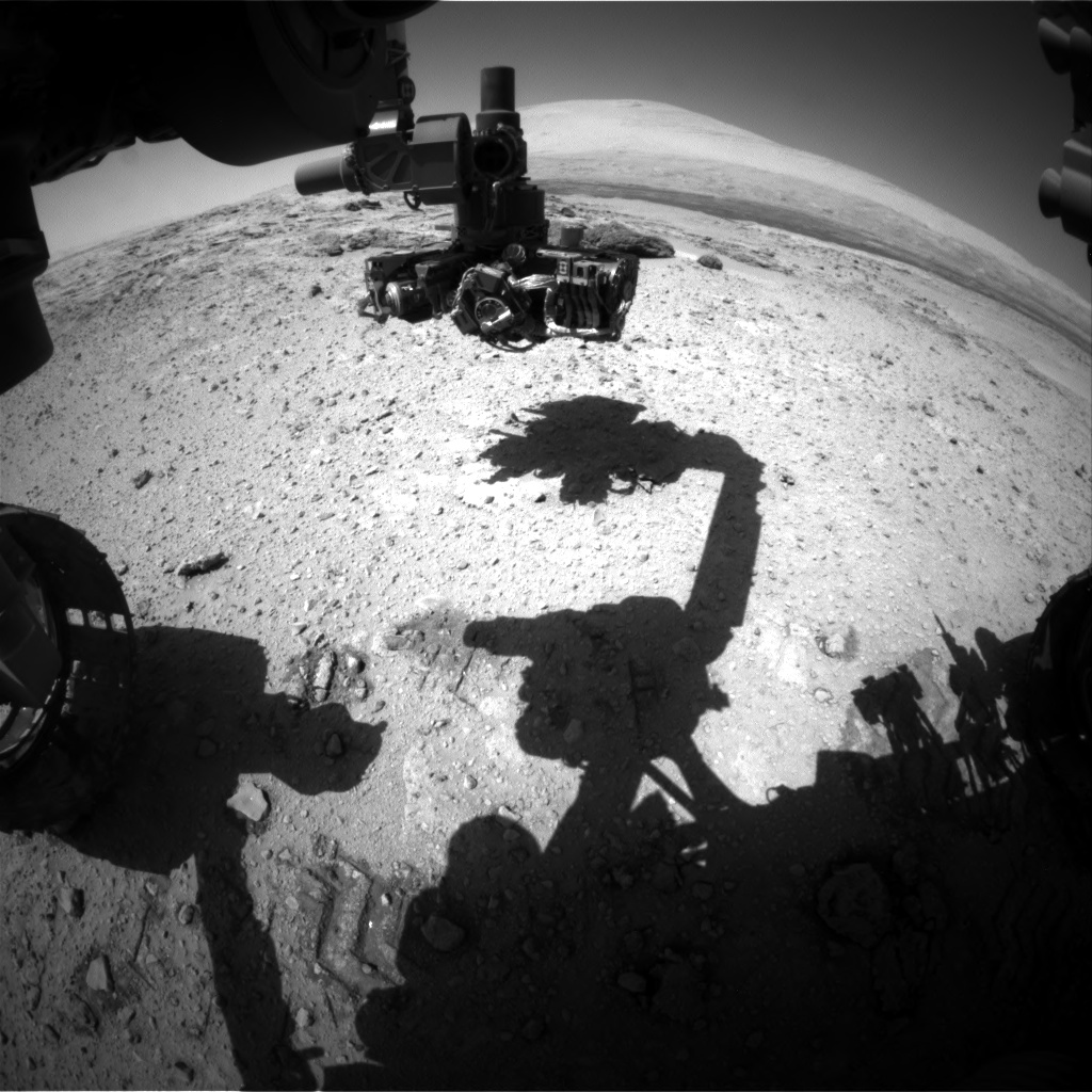 Nasa's Mars rover Curiosity acquired this image using its Front Hazard Avoidance Camera (Front Hazcam) on Sol 566, at drive 542, site number 29