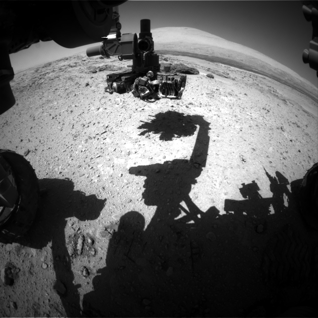 Nasa's Mars rover Curiosity acquired this image using its Front Hazard Avoidance Camera (Front Hazcam) on Sol 566, at drive 548, site number 29