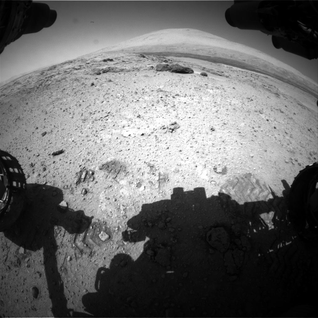 Nasa's Mars rover Curiosity acquired this image using its Front Hazard Avoidance Camera (Front Hazcam) on Sol 566, at drive 536, site number 29