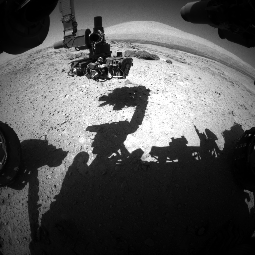 Nasa's Mars rover Curiosity acquired this image using its Front Hazard Avoidance Camera (Front Hazcam) on Sol 566, at drive 554, site number 29