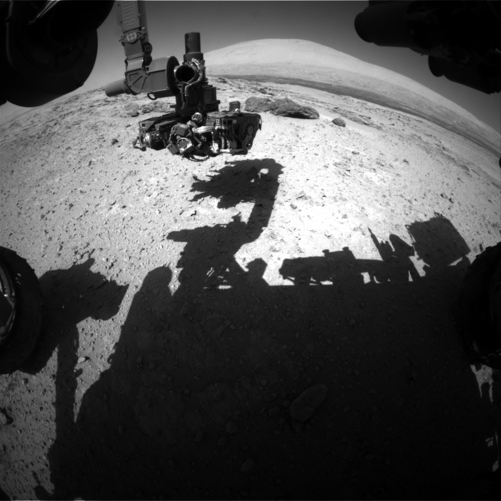 Nasa's Mars rover Curiosity acquired this image using its Front Hazard Avoidance Camera (Front Hazcam) on Sol 566, at drive 560, site number 29