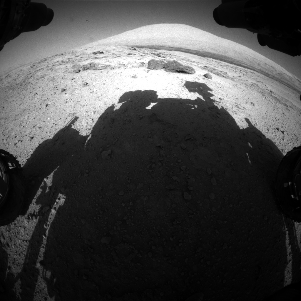 Nasa's Mars rover Curiosity acquired this image using its Front Hazard Avoidance Camera (Front Hazcam) on Sol 566, at drive 566, site number 29