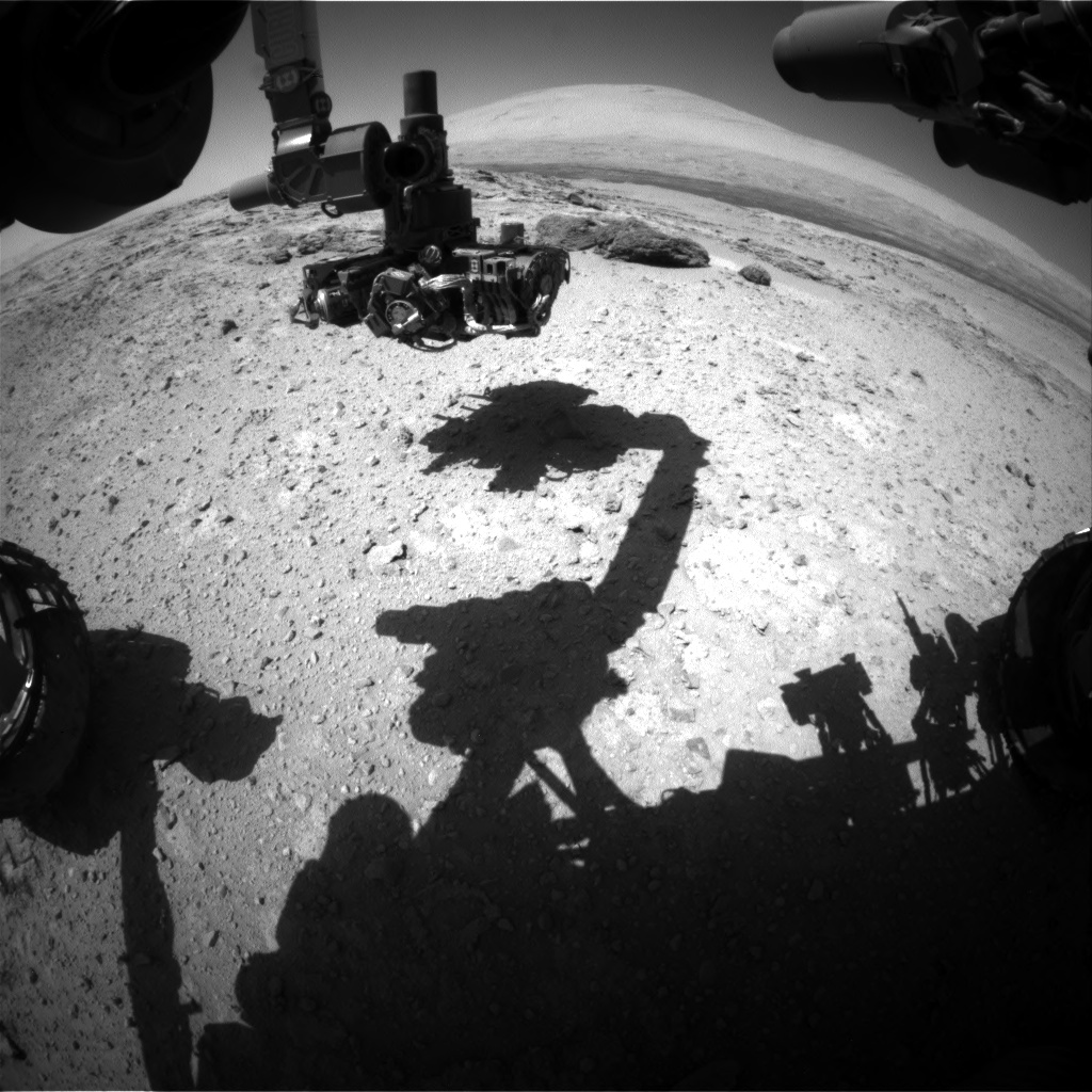 Nasa's Mars rover Curiosity acquired this image using its Front Hazard Avoidance Camera (Front Hazcam) on Sol 568, at drive 566, site number 29
