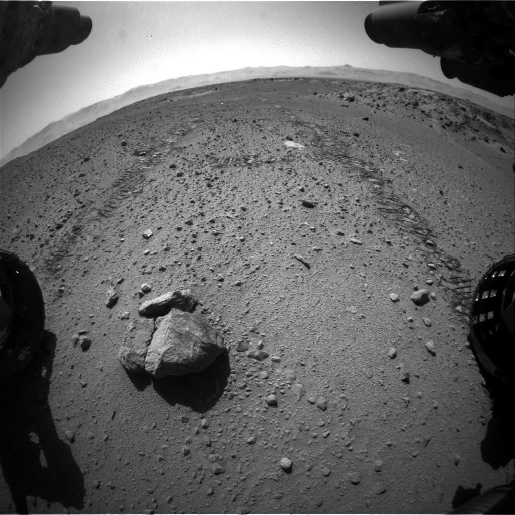 Nasa's Mars rover Curiosity acquired this image using its Front Hazard Avoidance Camera (Front Hazcam) on Sol 568, at drive 1020, site number 29