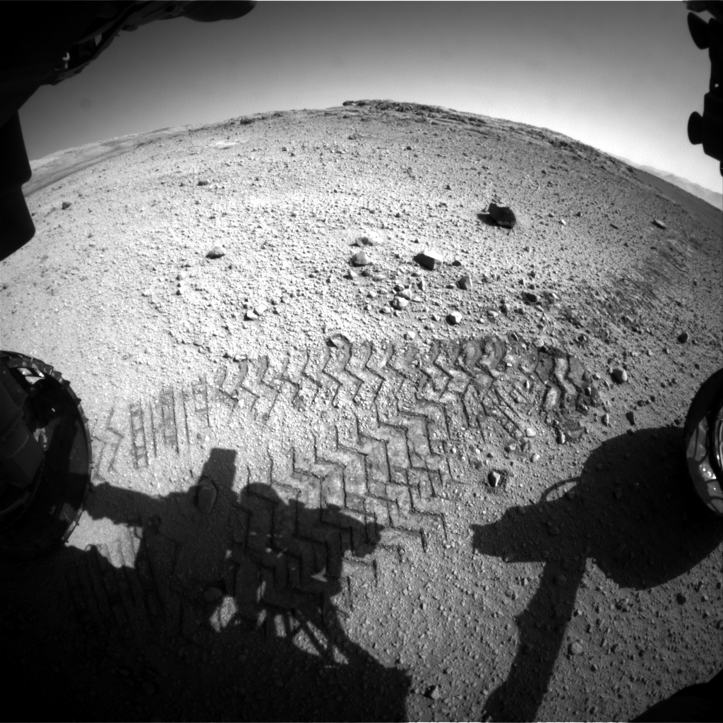 Nasa's Mars rover Curiosity acquired this image using its Front Hazard Avoidance Camera (Front Hazcam) on Sol 569, at drive 0, site number 30