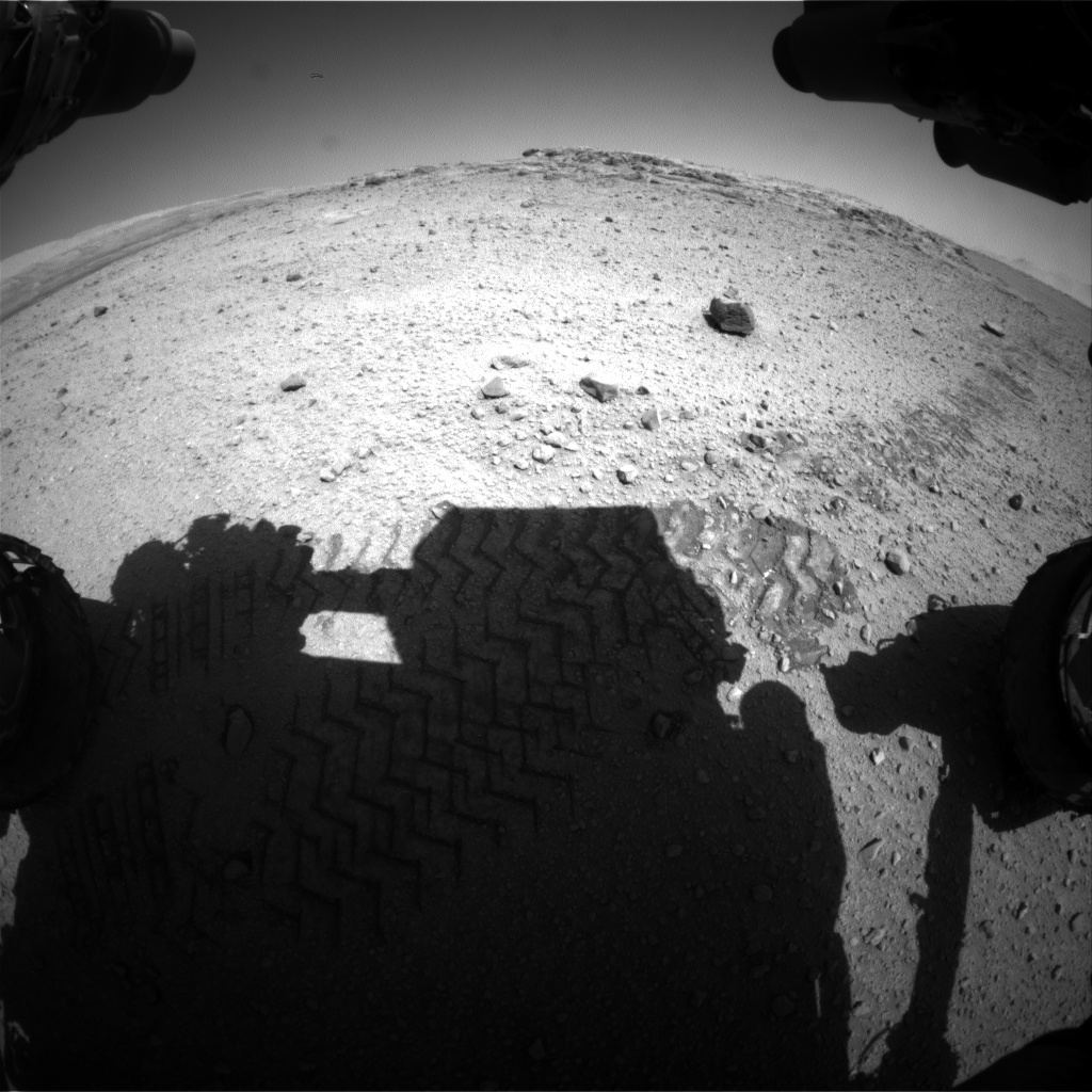 Nasa's Mars rover Curiosity acquired this image using its Front Hazard Avoidance Camera (Front Hazcam) on Sol 571, at drive 0, site number 30