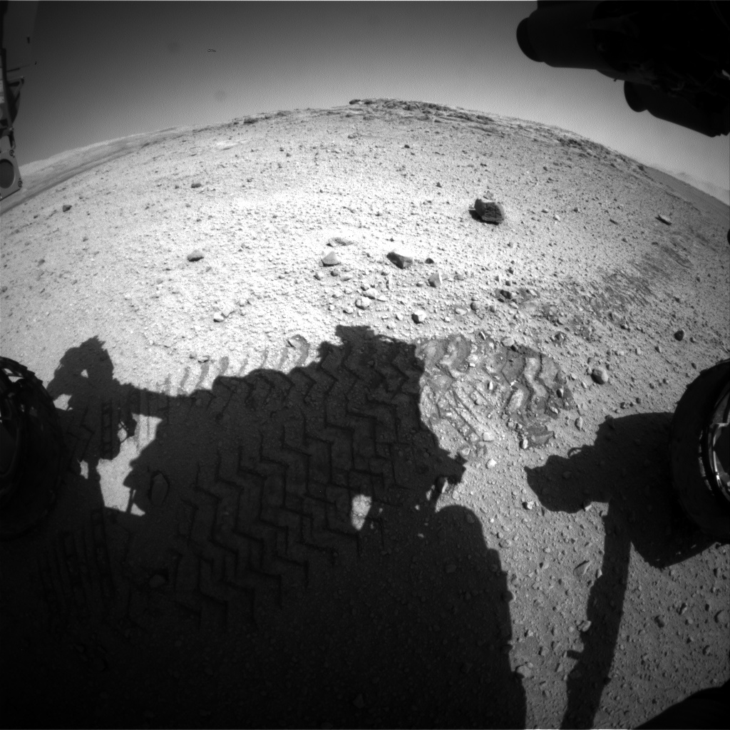 Nasa's Mars rover Curiosity acquired this image using its Front Hazard Avoidance Camera (Front Hazcam) on Sol 572, at drive 0, site number 30