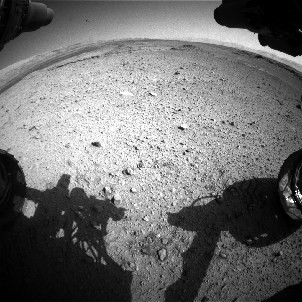 Nasa's Mars rover Curiosity acquired this image using its Front Hazard Avoidance Camera (Front Hazcam) on Sol 572, at drive 484, site number 30