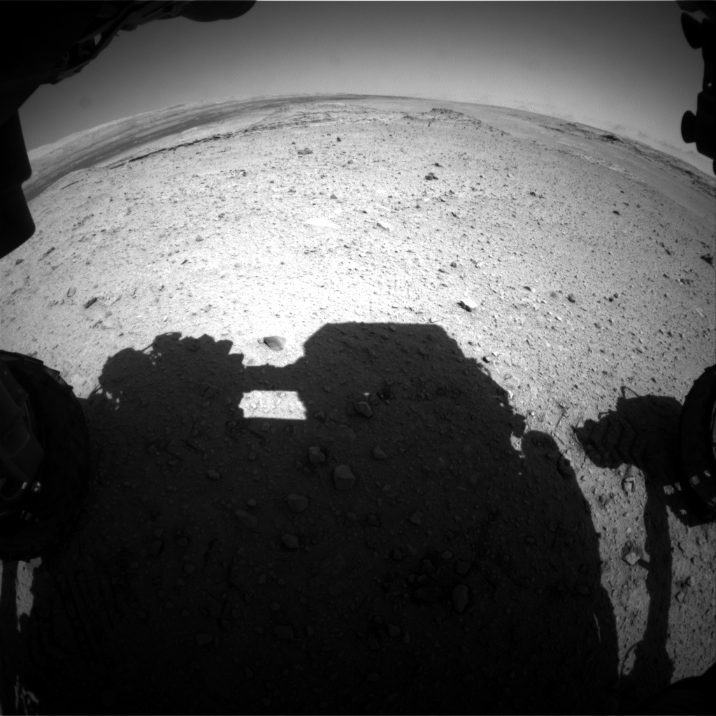 Nasa's Mars rover Curiosity acquired this image using its Front Hazard Avoidance Camera (Front Hazcam) on Sol 573, at drive 484, site number 30