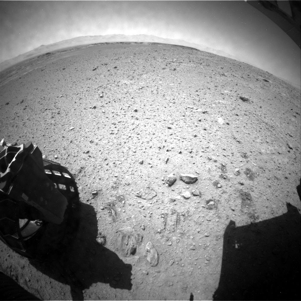 NASA's Mars rover Curiosity acquired this image using its Rear Hazard Avoidance Cameras (Rear Hazcams) on Sol 573