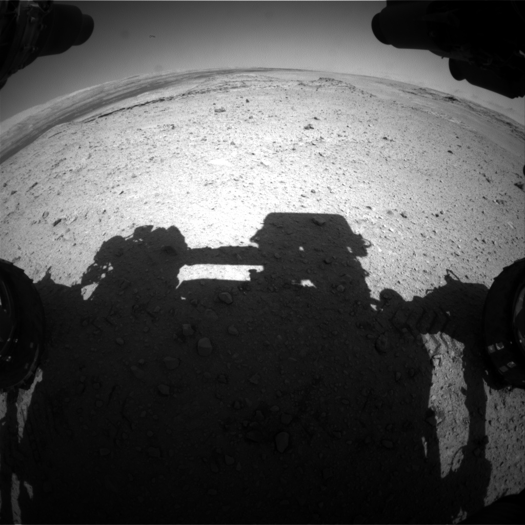 Nasa's Mars rover Curiosity acquired this image using its Front Hazard Avoidance Camera (Front Hazcam) on Sol 574, at drive 484, site number 30
