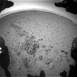 Nasa's Mars rover Curiosity acquired this image using its Front Hazard Avoidance Camera (Front Hazcam) on Sol 574, at drive 490, site number 30