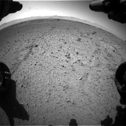 Nasa's Mars rover Curiosity acquired this image using its Front Hazard Avoidance Camera (Front Hazcam) on Sol 574, at drive 538, site number 30