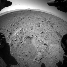 Nasa's Mars rover Curiosity acquired this image using its Front Hazard Avoidance Camera (Front Hazcam) on Sol 574, at drive 586, site number 30