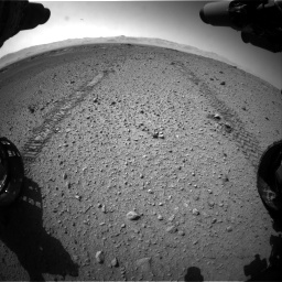 Nasa's Mars rover Curiosity acquired this image using its Front Hazard Avoidance Camera (Front Hazcam) on Sol 574, at drive 634, site number 30