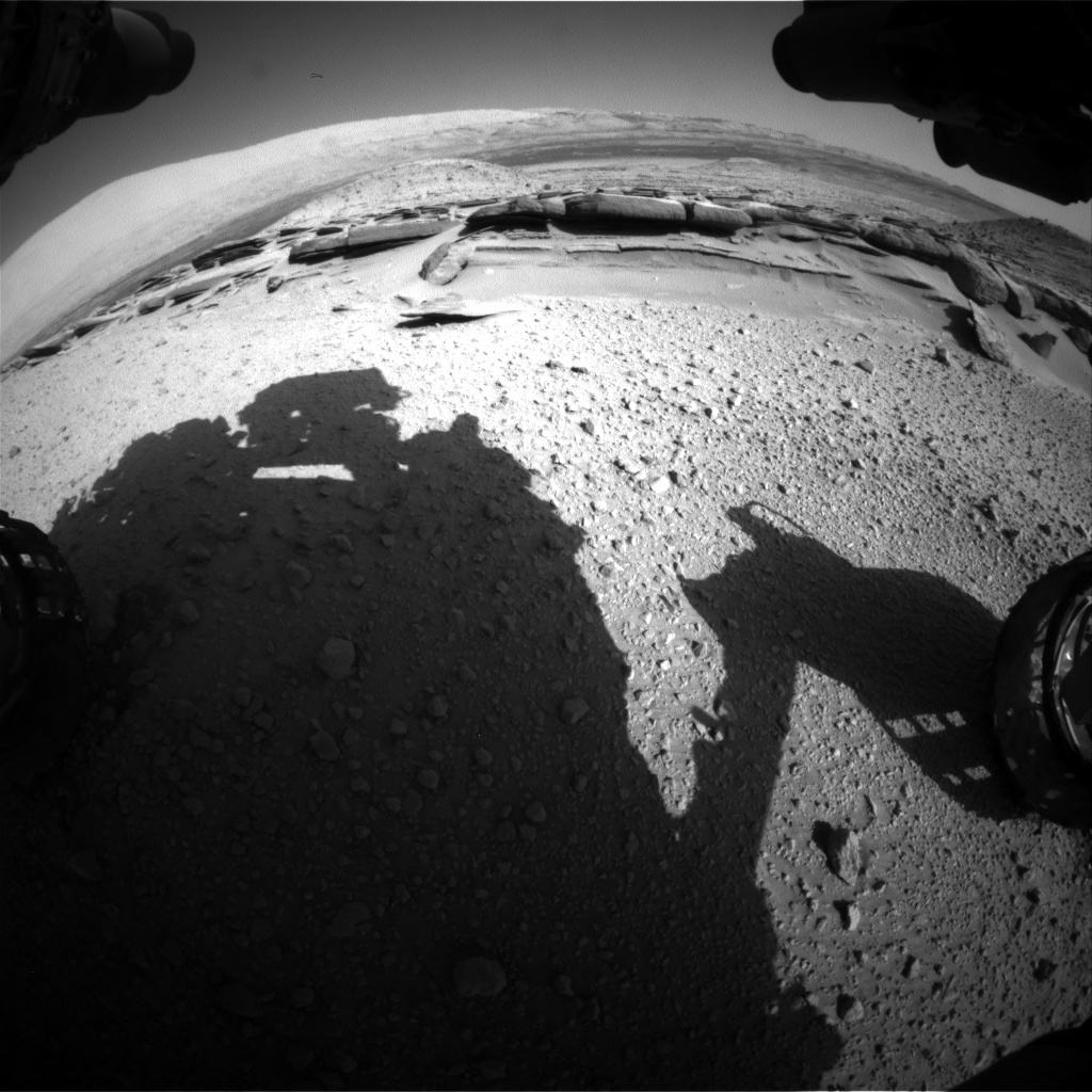 Nasa's Mars rover Curiosity acquired this image using its Front Hazard Avoidance Camera (Front Hazcam) on Sol 574, at drive 740, site number 30