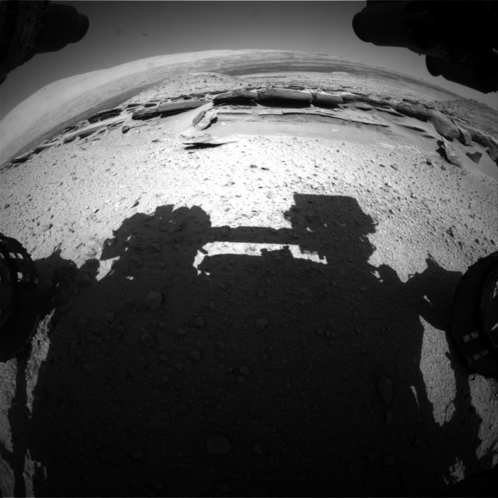 Nasa's Mars rover Curiosity acquired this image using its Front Hazard Avoidance Camera (Front Hazcam) on Sol 575, at drive 740, site number 30