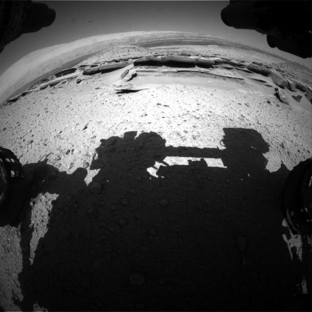 Nasa's Mars rover Curiosity acquired this image using its Front Hazard Avoidance Camera (Front Hazcam) on Sol 576, at drive 740, site number 30