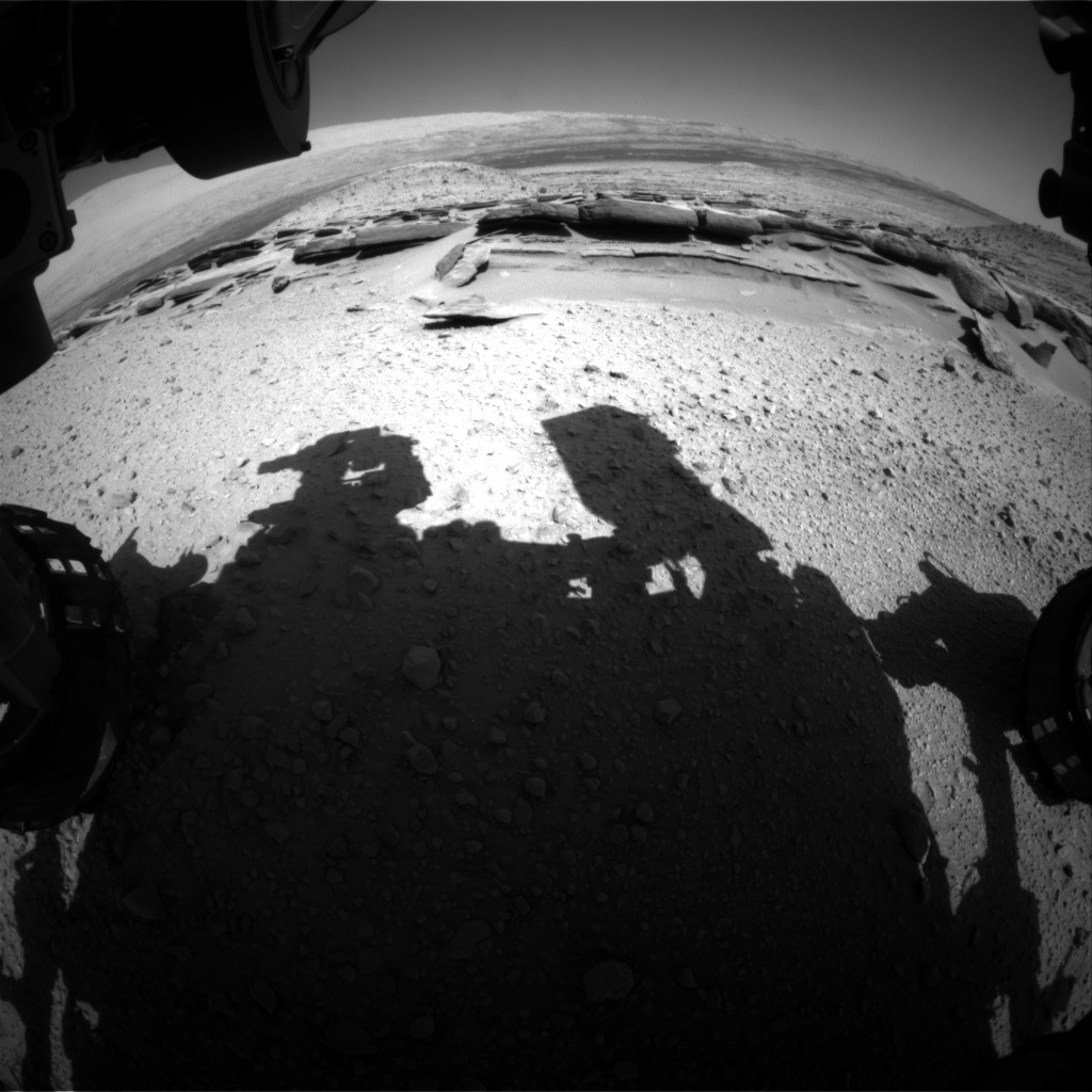 Nasa's Mars rover Curiosity acquired this image using its Front Hazard Avoidance Camera (Front Hazcam) on Sol 578, at drive 740, site number 30