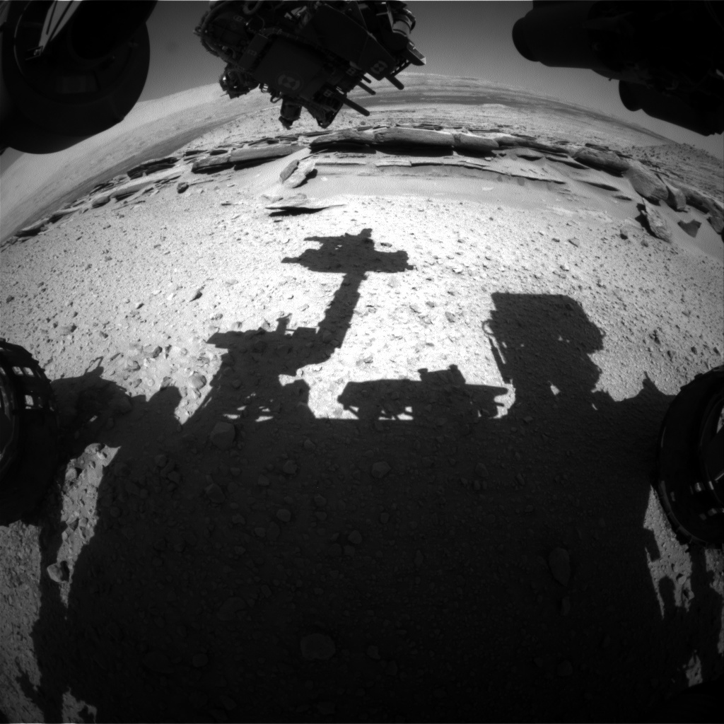 NASA's Mars rover Curiosity acquired this image using its Front Hazard Avoidance Cameras (Front Hazcams) on Sol 579